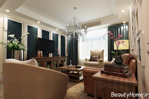 طرح های دیزاین خاص اتاق پذیرایی