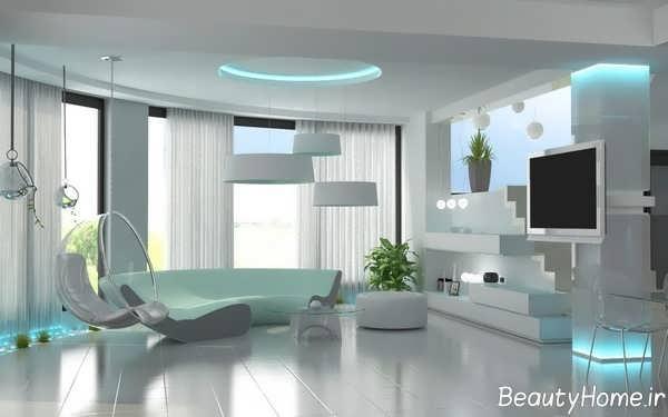 انواع دیزاین لوکس اتاق پذیرایی