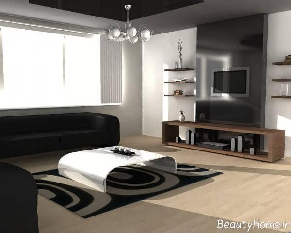 دیزاین به روز فرش اتاق پذیرایی