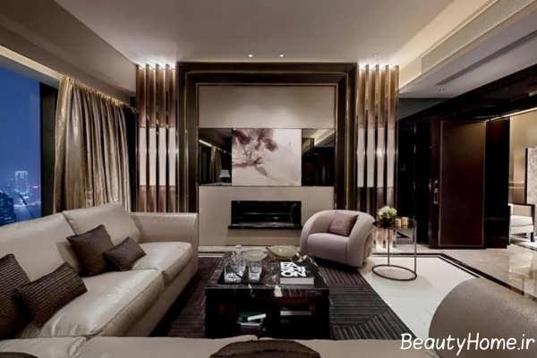دیزاین جالب نورپردازی اتاق پذیرایی