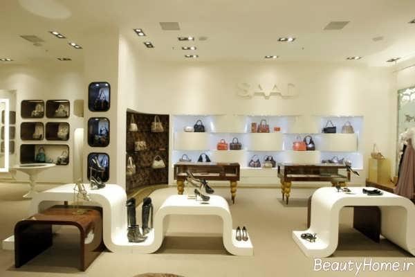 دکوراسیون داخلی مغازه کیف و کفش