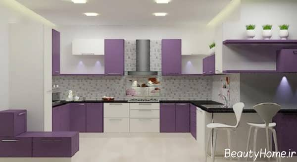 دکوراسیون بنفش آشپزخانه