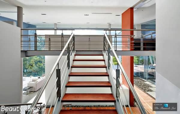 طراحی راه پله ها در ویلای لاکچری