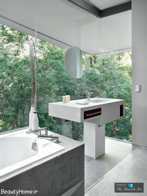طراحی حمام در دکوراسیون ویلای لوکس و لاکچری