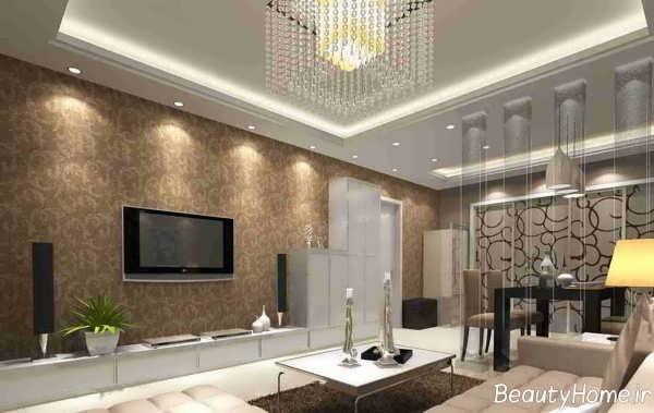 کاغذ دیواری طرح دار سالن پذیرایی