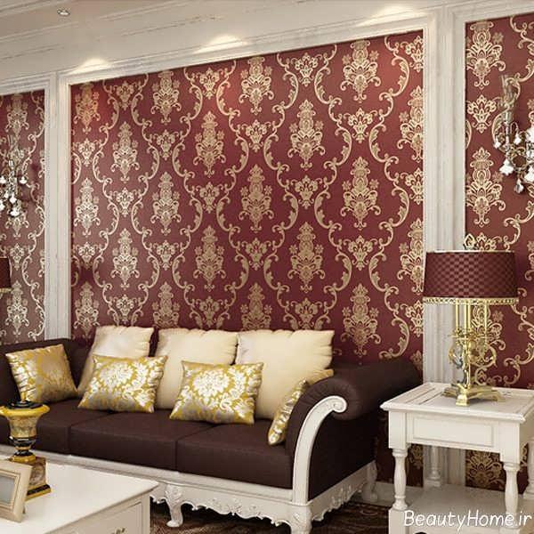 مدل کاغذ دیواری گلدار