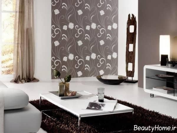 مدل کاغذ دیواری شیک و زیبا طرح دار