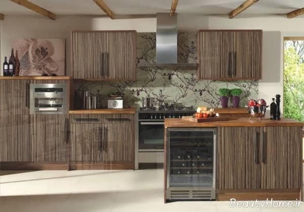 مدل کابینت قهوه ای آشپزخانه