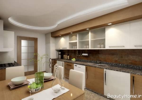 مدل کابینت آشپزخانه ام دی اف زیبا