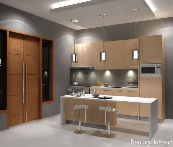 دکوراسیون شیک و کاربردی آشپزخانه مدرن