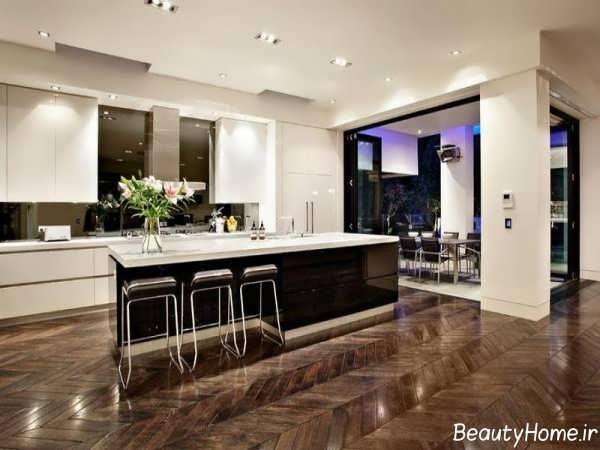دکوراسیون جذاب و مدرن آشپزخانه