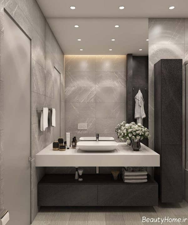 دکوراسیون داخلی زیبا و شیک سرویس بهداشتی