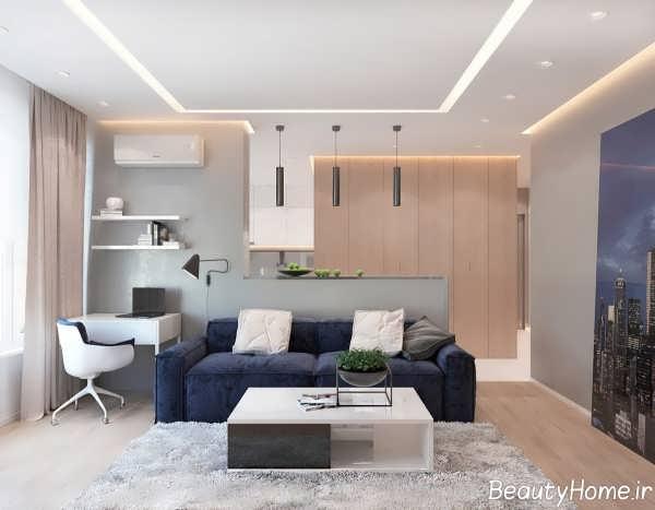 دکوراسیون کامل آپارتمان های یک خوابه