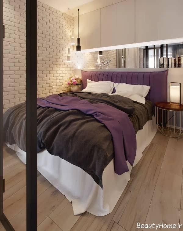 طرح های اتاق خواب آپارتمان منحصر به فرد یک خوابه