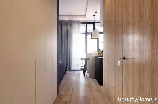 دکوراسیون آپارتمان مدرن یک خوابه