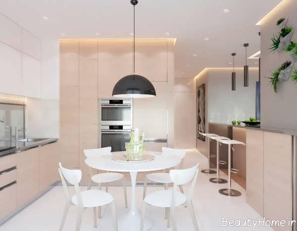 طراحی آشپزخانه آپارتمان های یک خوابه