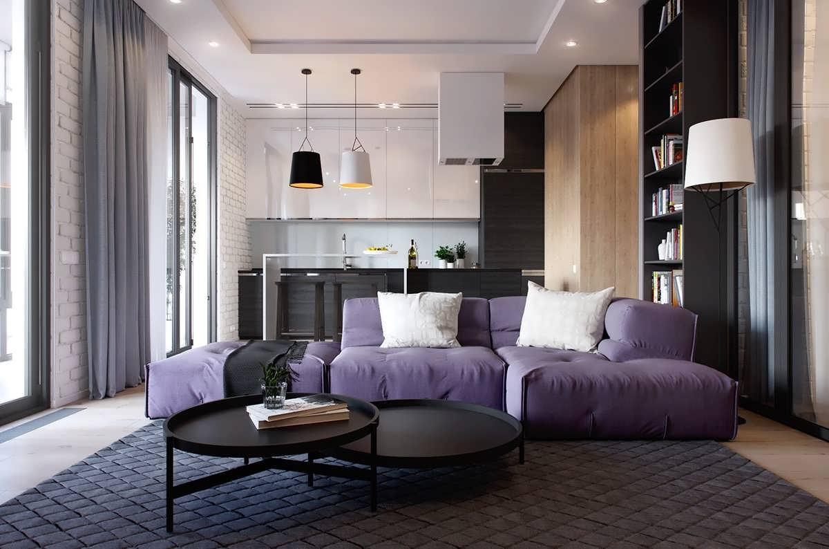دکوراسیون داخلی مدرن 2 آپارتمان تک خوابه