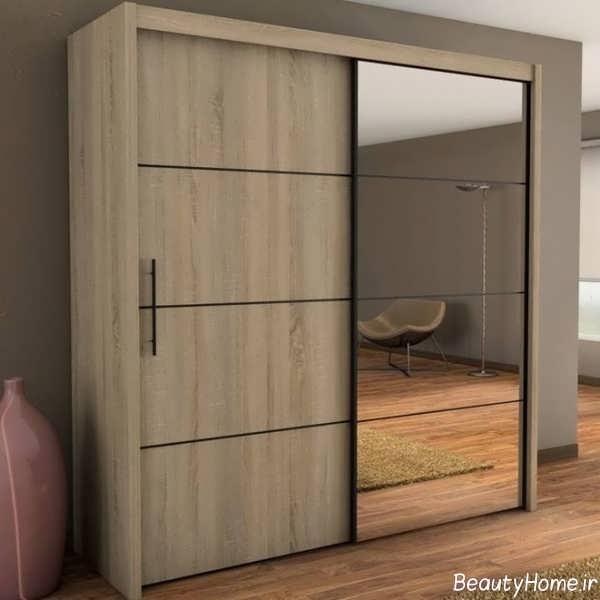 Bedroom Built In Cabinet Design 1 Bedroom Apartment Decorating Ideas Newlywed Bedroom Decor Bedroom Sets With Poles: مدل کمد لباس ریلی جدید برای اتاق خواب های کوچک و بزرگ