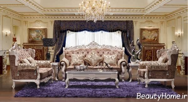 دکوراسیون سنتی اتاق پذیرایی سلطنتی