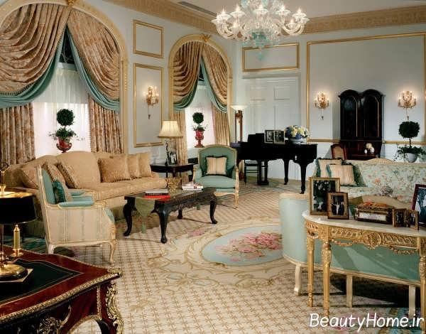 طراحی سالن پذیرایی سلطنتی