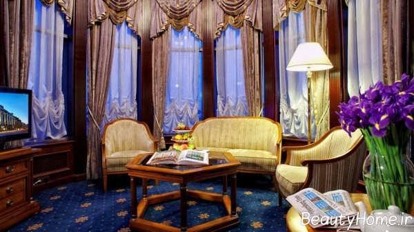 انواع اتاق پذیرایی لوکس سلطنتی