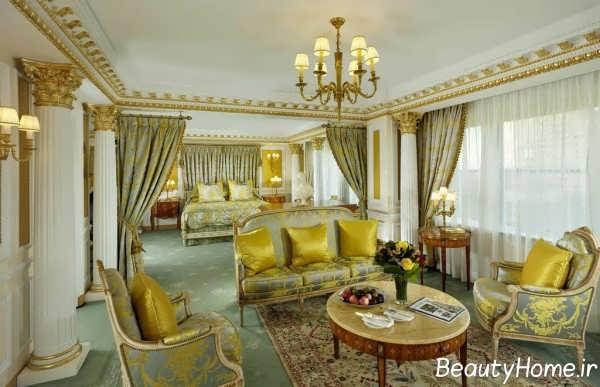 اتاق پذیرایی شیک سلطنتی