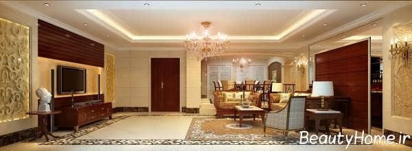 اتاق پذیرایی باشکوه سلطنتی