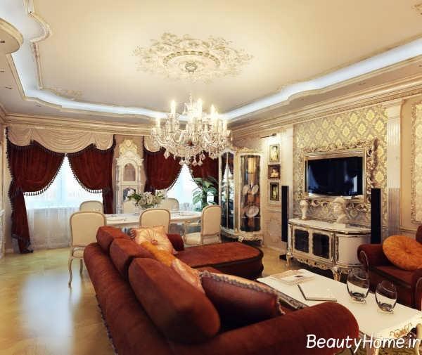 اتاق پذیرایی زیبا سلطنتی