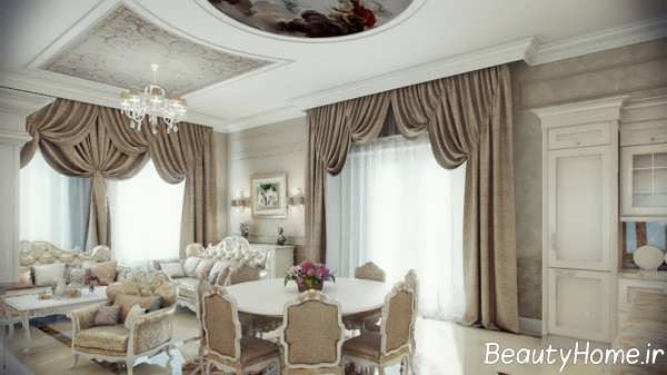 مدل پرده اتاق های پذیرایی سلطنتی