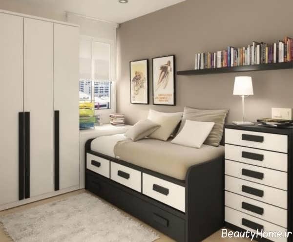 طراحی دکوراسیون اتاق خواب جوان
