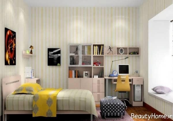 دکوراسیون اتاق خواب یک نفره با طراحی مدرن