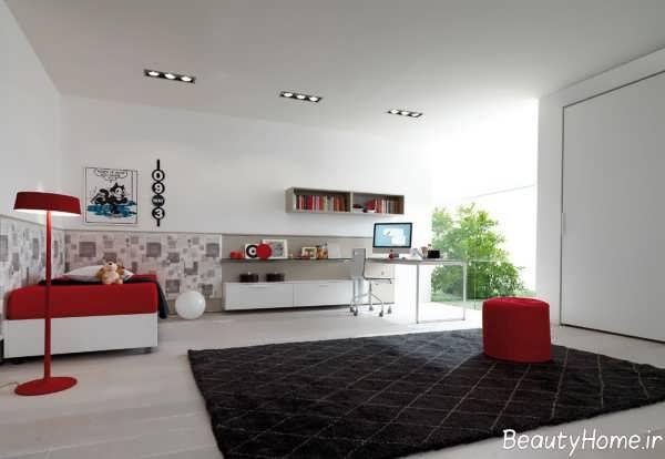 طراحی داخلی اتاق خواب جوان