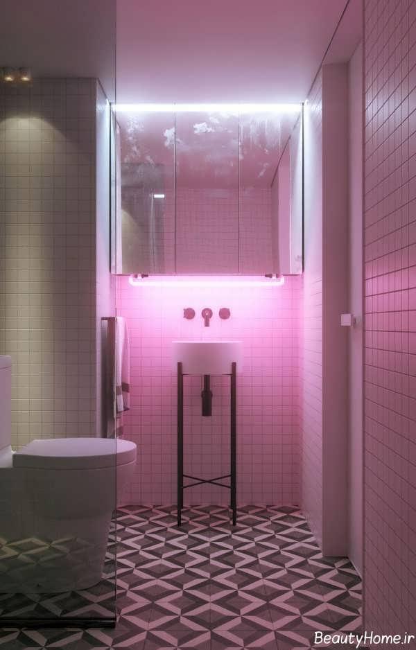 طراحی نورپردازی سرویس بهداشتی