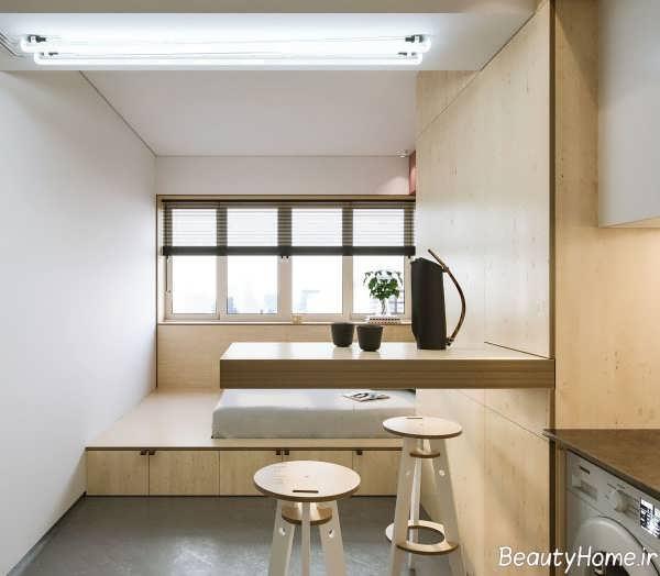Bright Scandinavian Decor In 3 Small One Bedroom Apartments: دکوراسیون خانه خیلی کوچک با طراحی مدرن و خلاقانه