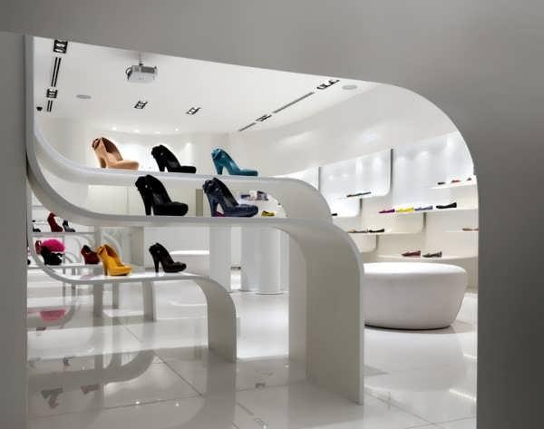 طراحی مغازه کیف و کفش