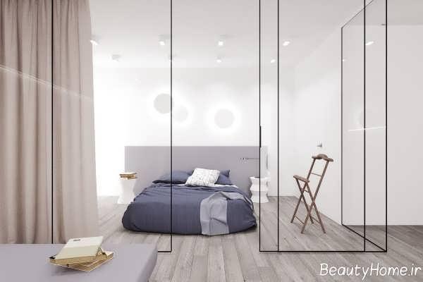 کاربردی دیوار شیشه ای در اتاق خواب