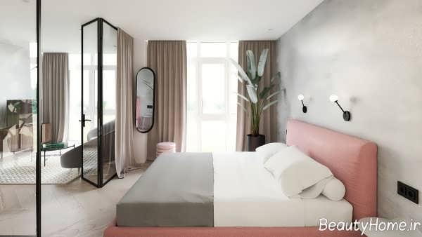 کاربرد دیوار های شیشه ای در دکوراسیون اتاق خواب