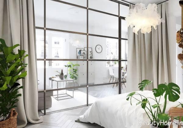 دکوراسیون داخلی منزل با دیوار شیشه ای