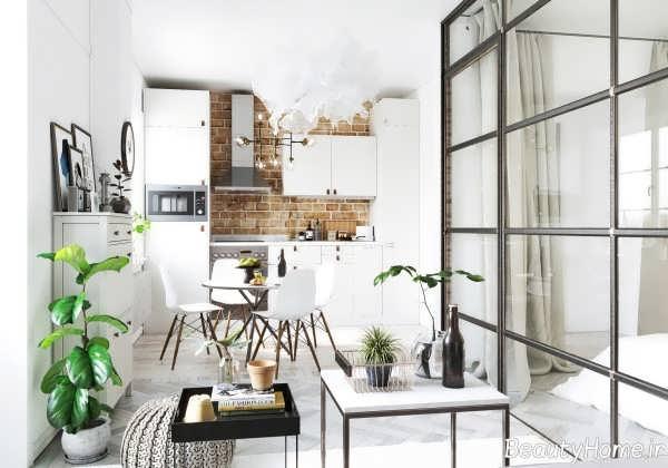 طراحی منزل با دیوار شیشه ای
