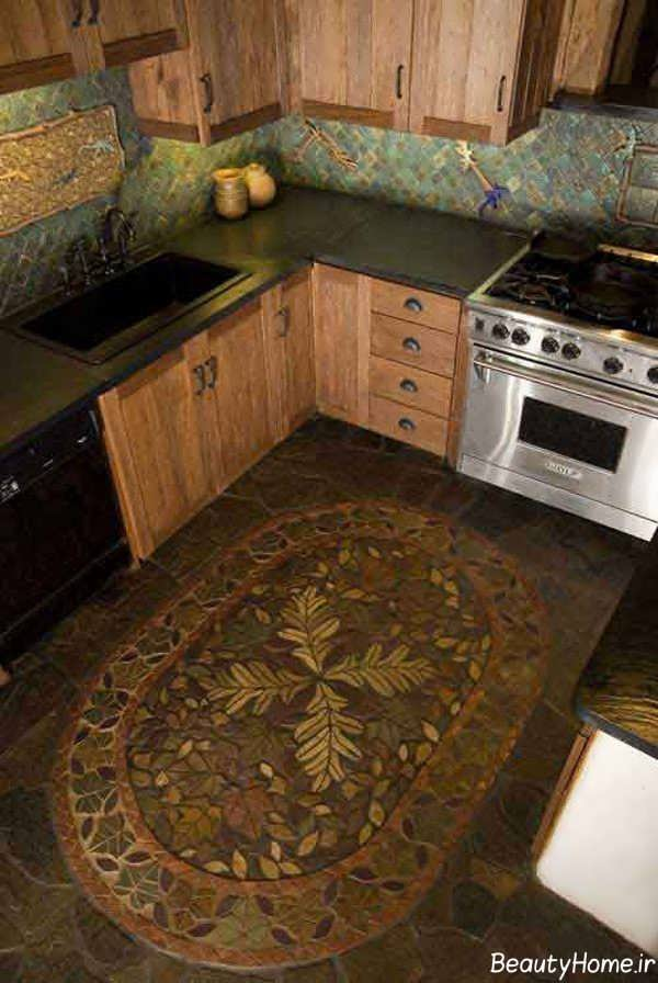 مدل منحصر به فرد فرش آشپزخانه