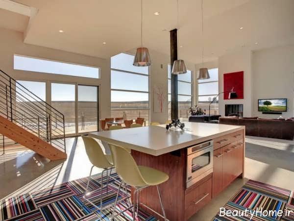 مدل رنگی فرش آشپزخانه