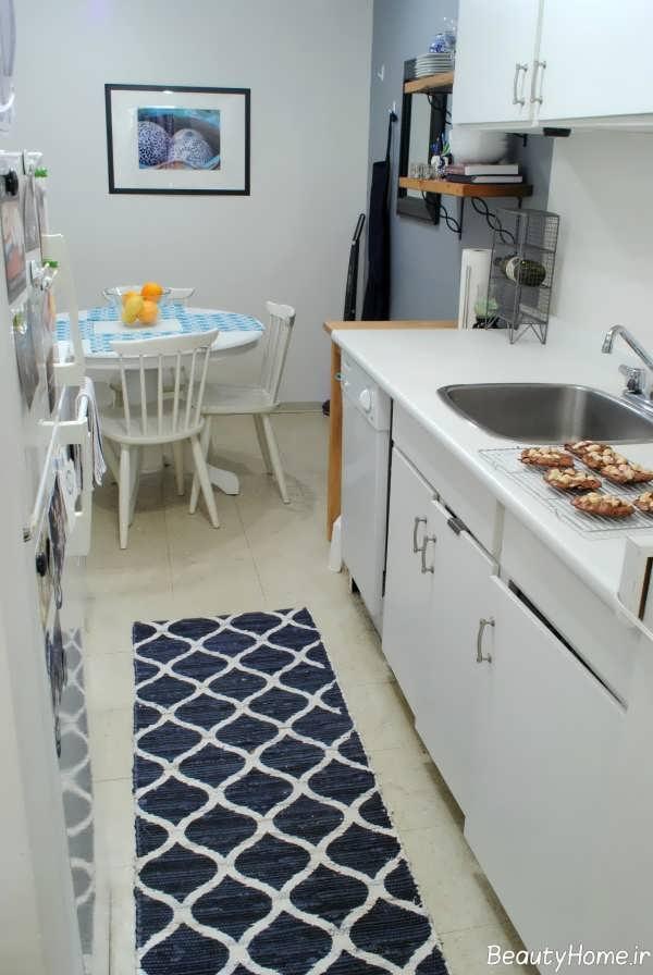 مدل فرش آبی برای آشپزخانه