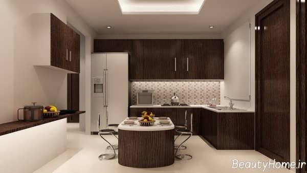 کناف آشپزخانه با طراحی شیک و مدرن