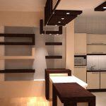 کناف آشپزخانه با طراحی شیک و کاربردی