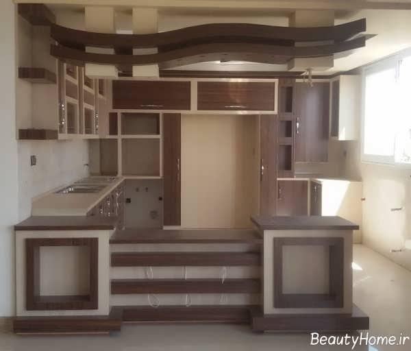 مدل کناف آشپزخانه شیک و جدید