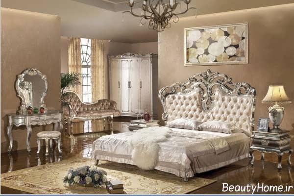 مدل تخت خواب شیک و زیبا سلطنتی