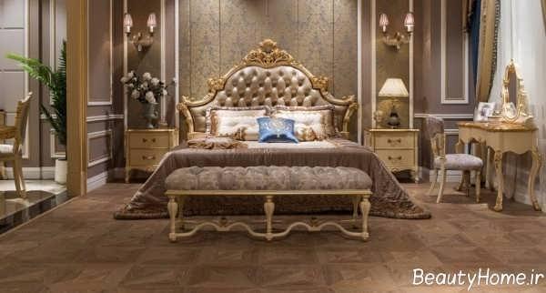 مدل تخت خواب کلاسیک و سلطنتی