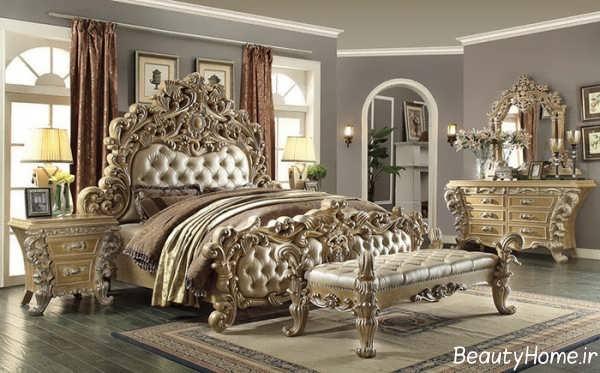 مدل تخت خواب سلطنتی جدید و شیک با طرح های زیبا