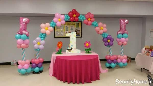 تزیین تولد یک سالگی با بادکنک