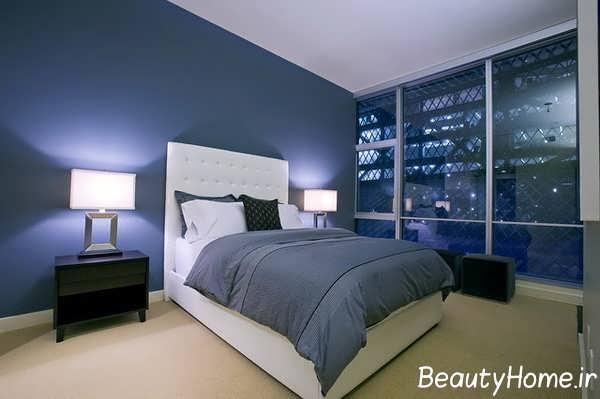 دکوراسیون اتاق خواب پسر آبی خاکستری